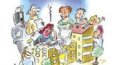 Schulsekretariat Comiczeichnung
