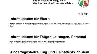 Info Kitas NRW ab 12.04.2021